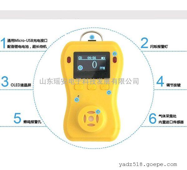 瑶安YA-1001C便携式沼气检测仪沼气报警器