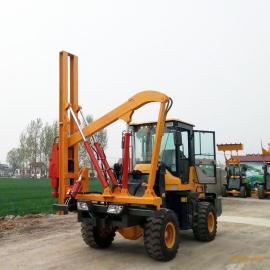 铲车式护栏打拔一体机 装载机改装护栏打拔钻一体机