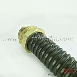金属包塑软管304不锈钢包塑软管PVC穿线软管配铁接头