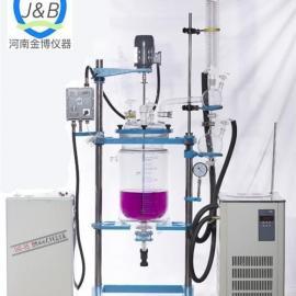 双层玻璃反应釜生产厂家_双层玻璃反应釜_河南金博仪器(图)