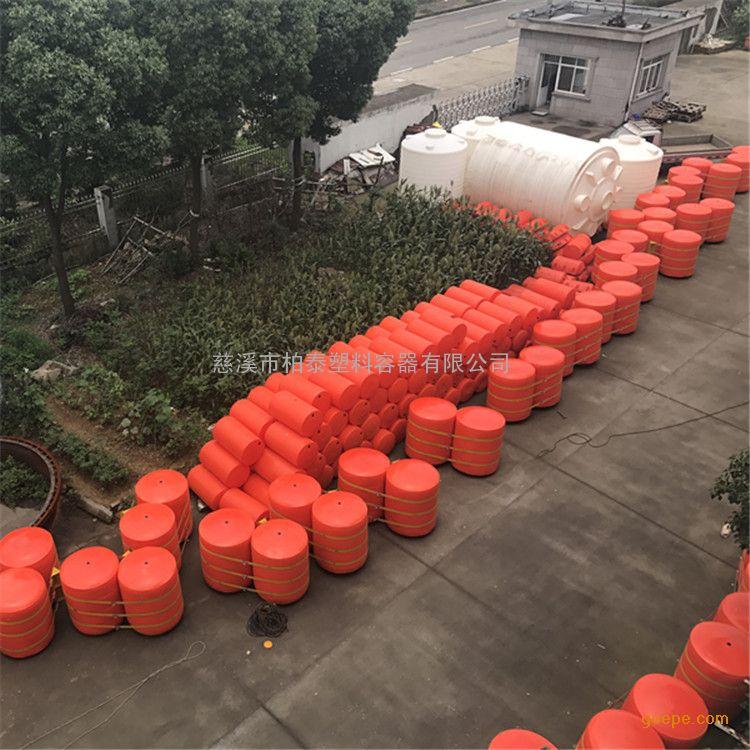 遂宁自浮式电站拦污浮筒/滚塑一体式塑料拦污排
