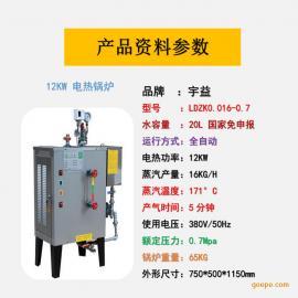 宇益不锈钢电热蒸汽发生器12KW工业节能小型锅炉