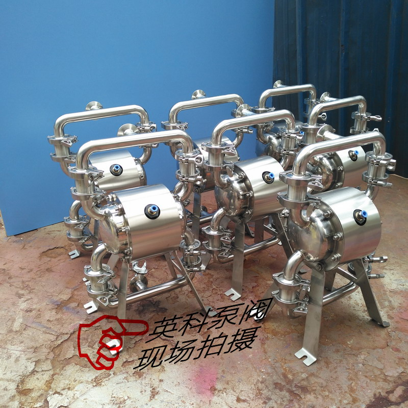 浙江食品级气动隔膜泵 温州卫生级隔膜泵 不锈钢卫生隔膜泵