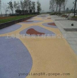 云南景区彩色艺术地坪/楚雄生态透水混凝土/大理不褪色防滑路面