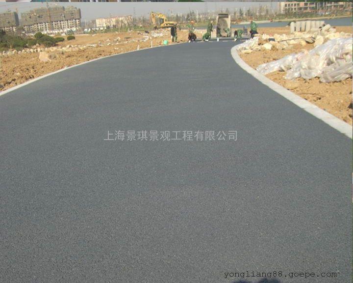 生态环保型透水地坪|新型路面铺装材料|高强度彩色渗水地坪