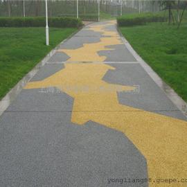 实用、美观双效合一�人行道 公园 广场彩色透水混凝土路面