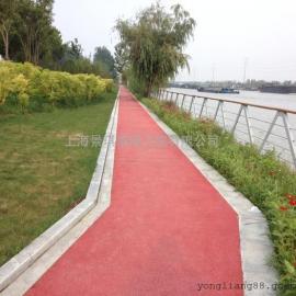 专注脚下每一步YESIR彩色透水混凝土路面
