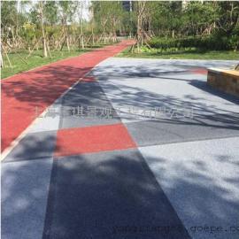 广场透水地坪-小区彩色路面-景观园林步道渗水混凝土