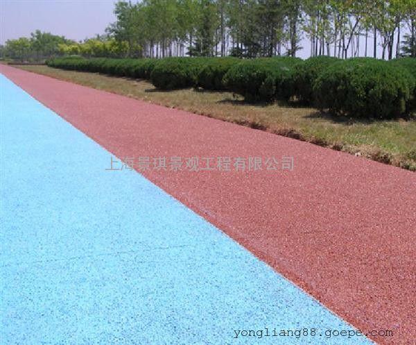 上海真石丽|透水混凝土|低成本高承载|海绵路无积水路面