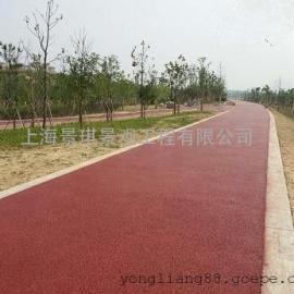 上海装饰混凝土#透水地坪%可定制个性图案@特种建材铺装材料