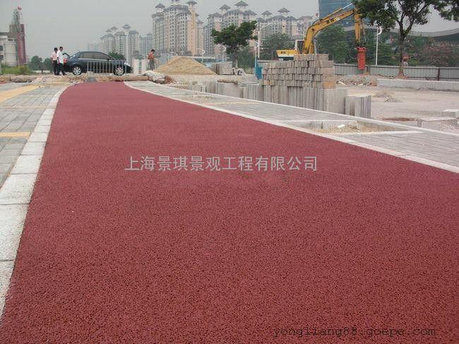 多孔混凝土�I品|真石丽透水地坪|上海车道高透水多孔混凝土材料