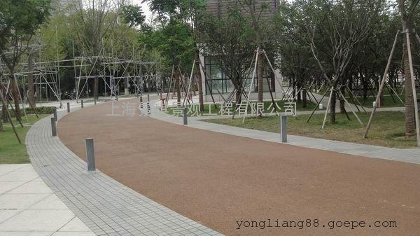 装饰地面材料|彩色混凝土透水地坪|美观绿化|让城市更美