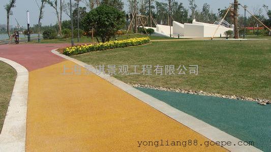 海绵城市专透水铺装 学校透水混凝土 停车场篮球场彩色透水地坪