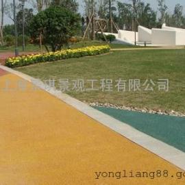 海绵城市专透水铺装|学校透水混凝土|停车场篮球场彩色透水地坪