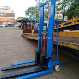 载重2吨手动液压堆垛机托盘装卸车手动液压装卸升高车