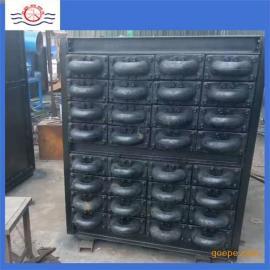 鑫�h环保设备厂家铸造高品质锅炉方型铸铁省煤器