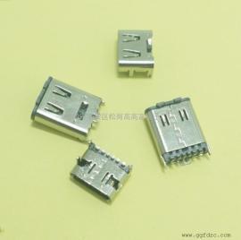 TYPE-C 6p母座插板/TYPE-C插板系列母座