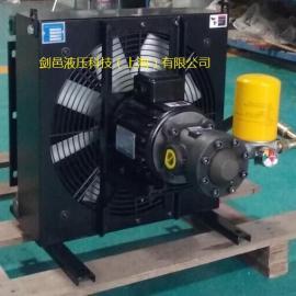 液压剪板机折弯机油冷却散热器风冷却器、液压弯管机风冷却器