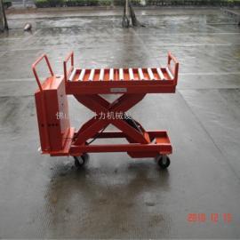 滚筒滚珠式升降平台 快递流水线运输平台车 运输车