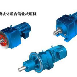 RM107搅拌机专用斜齿轮减速机(法兰安装带长轴承箱)