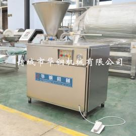 厂家直销华钢液压灌肠机30型灌肠机 食品级304不锈钢