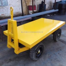 机场专用行李平板拖车物流台车牵引式行李拖车