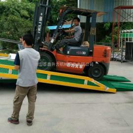 厂家直销集装箱叉车桥卸货平台液压装卸车8吨10吨12吨