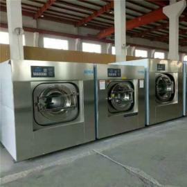 小型宾馆洗衣房全自动不锈钢洗涤设备酒店会所布草洗衣机价格