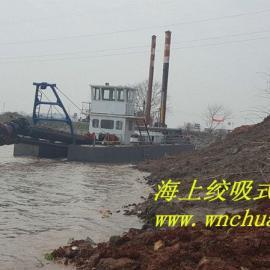 广东西江200方绞吸式抽沙船顺利抽沙