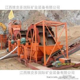 广东中山生产风化砂洗选轮斗洗砂机 2612双轮斗洗砂机