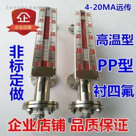 磁翻板液位计 磁性浮子侧装式顶装式水位计油位计远传报警