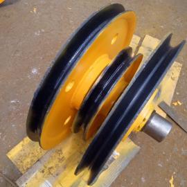 G861带夹轮滑轮组外径565轧制天车滑轮直销北京市滑轮组