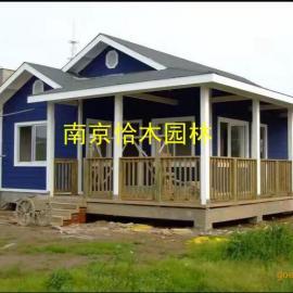南京木屋厂家可定制各种木屋 木别墅 木房子 防腐木屋