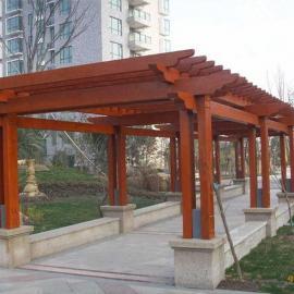 南京花架厂家可定制各类防腐木花架 葡萄架 长廊