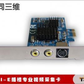 PCI-E视频采集卡开发卡(同三维T310E)视频采集卡