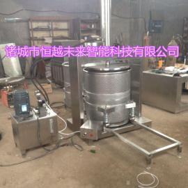 恒越未来HYWL-100L鱿鱼脱水压榨机 立式液压压榨机
