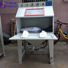 现货热销手动喷砂机小型箱式喷砂机五金模具石材自动喷砂机