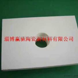 甘肃白银赢驰耐磨92氧化铝陶瓷带孔衬板焊接板