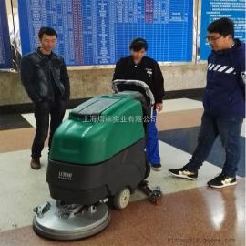 移动式电动洗地机常州机械厂用洗地机物业保洁用清洗吸干一体机