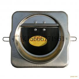不锈钢烟道防火止回阀厨房不锈钢止逆阀厨房排气道防火阀