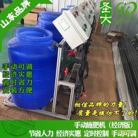 济宁施肥机厂家金乡大蒜种植手动施肥器简单实惠的水肥一体机