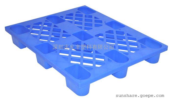 供应1.2*1米九脚塑料卡板 地台板 栈板 一次性出口托盘