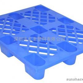 供应1.2*1米九脚塑料卡板|地台板|栈板|一次性出口托盘