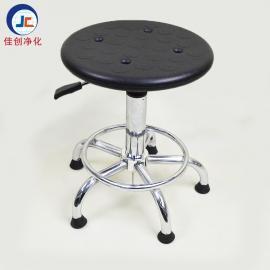 厂家批发 防静电pu发泡四孔升降圆凳 防静电pu升降靠背凳子 椅子