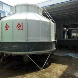金创逆流式玻璃钢圆型冷却塔生产厂家新密冷却塔