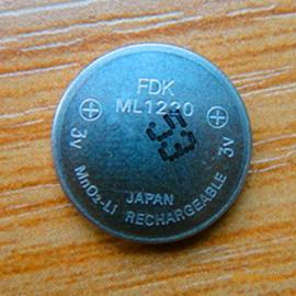 日本原装进口FDK ML1220可充电3V纽扣电池