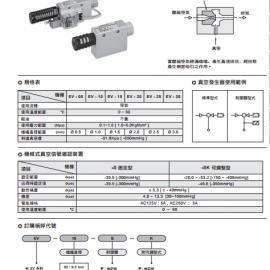 台湾气立可CHELIC真空发生器EV-15现货
