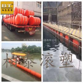 汛期水库塑料拦污栅 两半片挂网式塑料导漂