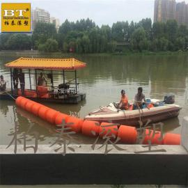 水面自浮式拦污导漂 PE材质滚塑定制拦污浮筒价格