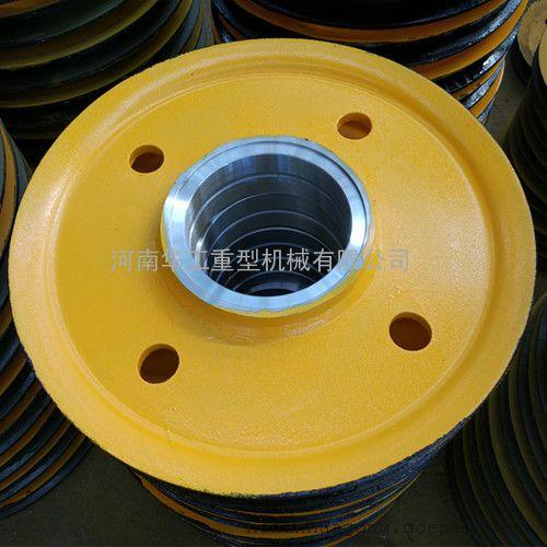 抓斗钢丝绳定滑轮组 50t铸钢滑轮 港口导向轮组卷扬机